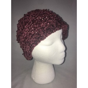 Charter Club Velvety Solid Chenille Beret Mulberry 's One Size New NWT 98617147218 eb-93717371