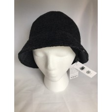 August Hat Company Mujer's Warm Crochet Chenille Classic Cloche Bucket Black 766288000971 eb-33101930
