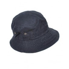 Black Cotton Bucket Hat (H0619)  eb-32242880