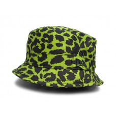 Jeremy Scott Leopard Bucket New Era Fall Fashion Hat Cap Floppy Lime Black Spots  eb-40592128