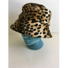 Kenneth Cole womens bucket hat leopard print brown black NEW  eb-19568212