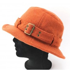 PandAmerica Hat Orange Bucket Fairfield Califernia Ladies Fashion Buckle   eb-84909551