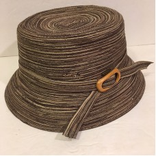 Scala Sanibel Polyester Braided Bucket Hat Brown Tan Mujer's One Size  eb-05415286