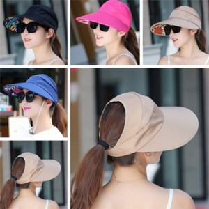 UV Protect Foldable Large Brim Visor Cap Beach Sun Hat Outdoor Multico TK  eb-55844678