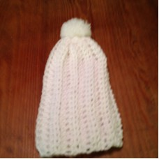 Chunky Slouchy Pom Pom Hat Hand crocheted teen and women  Blue  eb-64084112