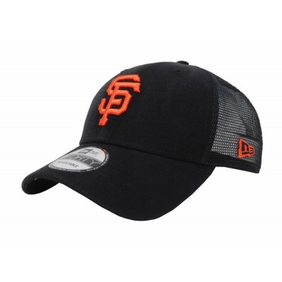 NEW ERA 9Forty San Francisco Giants Black Orange Mesh Cap Adult  Truck Hat  eb-59275609