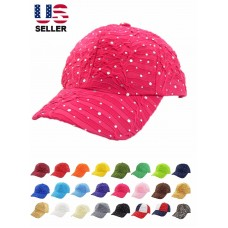 Rhinestone Baseball Cap Glitter Sequin Sparkly Bling Mujer Summer Hat Sun Lady  eb-53544775