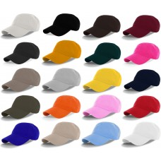 Solid Plain Washed Dad Hat Cotton 100% Polo Style Baseball Cap Adjustable  eb-62515237