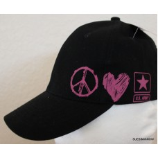 US Army Hat Military Adjustable Ladies Ballcap pink Womans Support Troops  eb-70536769
