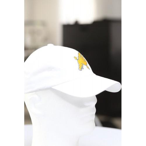 white cap baseball Frenchie Poodle dad hat Sigma Gamma Rho SGRho