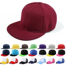 Baseball Cap Plain Blank Snapback Hip Hop Adjustable Fitted Peak Flat Sun Hat US  eb-69641474