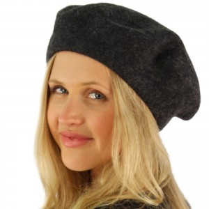 Classic Winter 100% Wool Warm French Basque Beret Tam Beanie Hat Cap Charcoal 741459484231 eb-98514924