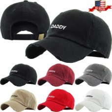 Daddy Embroidery Dad Hat Cotton Adjustable Baseball Cap Unconstructed  eb-33010438