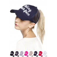 ScarvesMe C.C Resting Beach Face Color Change Ponytail Messy Buns Baseball Cap  eb-95058382
