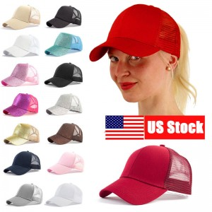 US Ponytail Baseball Cap  Stylish Ponycap Messy High Bun Ponytail Snapback  eb-57816773