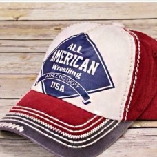 All American Vintage Style Cap / Hat  Adjustable Cap  NWT   Thick Stitch  Red  eb-76189722