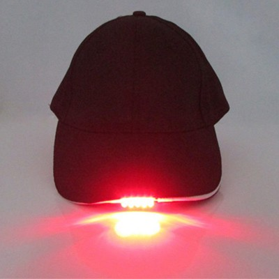 Baseball Cap with5 LED Lights Adjustable Strap Hat Fishing Camping Hiking  eb-58669078