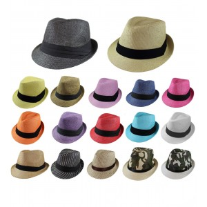 Gelante Unisex Summer Fedora Panama Straw Hats with Band (Ship in a BOX)  eb-78812446