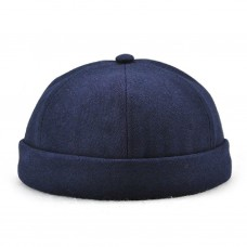 Hombre Casual Docker Hat Sailor Cap Mechanic Biker Hat SkullCap Beanie Brimless  eb-82917425