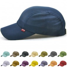 Hombres Snapback Taffeta Golf Baseball Race Day Running Summer Mesh Hat Cap Visor  eb-83938574