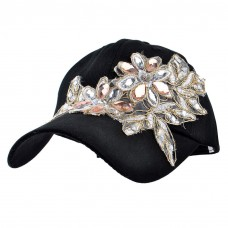 Lace Flower Bling Hat  Mujers Baseball Cap With Crystal Rhinestone Golf Sun Hat  eb-43431575