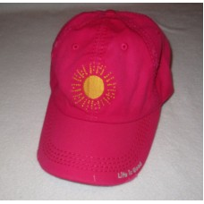 LIFE IS GOOD NWT Mujers Sun Sunshine Chill Baseball Ball Hat Cap Pink OS NEW 887941481712 eb-04896226