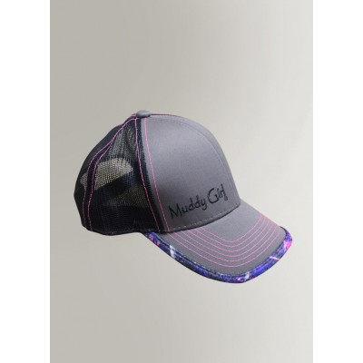 Muddy Girl Camo Pink & Purple Mesh Back Basetball Hat Cap  's  eb-39926735