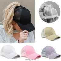 Ponycap Messy High Bun Ponytail Adjustable Mesh Trucker Baseball Cap Hat Sun Cap  eb-10297559